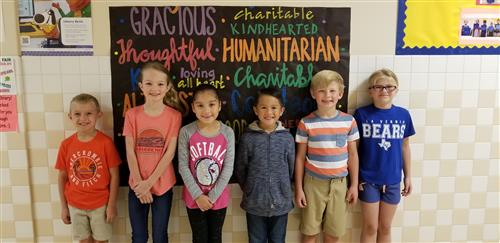 Kindness Winners for March