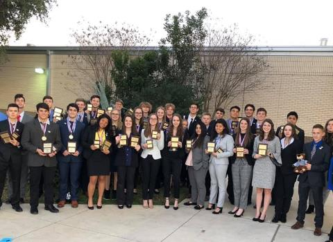 LVISD BPA Program Wins Big at Regionals