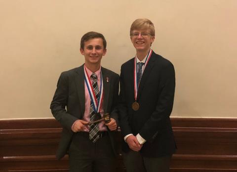 Reece Smith and Justin Goosman at UIL State Congress